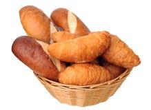 Chleby w koszu Zdjęcia Stock