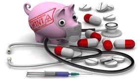 Chlewni grypa Grypy A wirus (H1N1) Pojęcie Zdjęcie Royalty Free