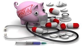 Chlewni grypa Grypy A wirus H1N1 Pojęcie Obrazy Stock