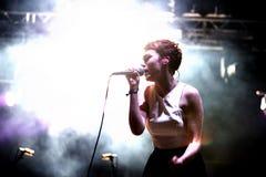 Chloe嗥叫(为2014的BBC声音提名的英国歌手) 免版税库存照片