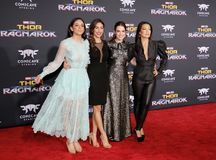 Chloe Bennet, Elizabeth Henstridge, Natalia Cordova-Buckley and Ming-Na Wen Stock Image