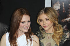 Chloe Grace Moretz,Julianne Moore. Julianne Moore & Chloe Grace Moretz at the world premiere of their movie 'Carrie' at the Arclight Theatre, Hollywood. October Royalty Free Stock Images