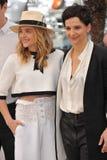 Chloe Grace Moretz & Juliette Binoche Stock Photo