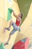 Chloe Graftiaux - scalatore del Belgio Fotografia Stock