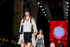 Chloe Lecareux (model) walks the runway for the Mango collection Stock Photo