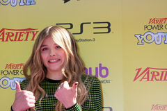 Chloe Moretz. LOS ANGELES - OCT 22: Chloe Moretz arriving at the 2011 Variety Power of Youth Evemt at the Paramount Studios on October 22, 2011 in Los Angeles royalty free stock photo
