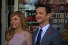 Chloe Moretz och John Blake på Hollywood går av berömmelse Cerem Royaltyfria Foton