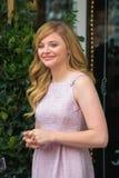 Chloe Moretz på Hollywood går av berömmelseceremoni Arkivfoton