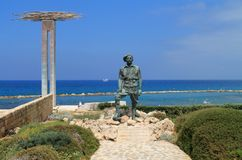 Monument of memory and honour in Chlorakas village, Cyprus stock photos