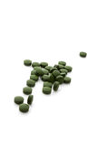 Chlorella pills. Stock Photography