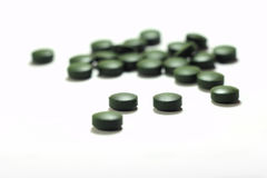 Chlorella tablets Royalty Free Stock Images