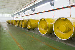 Chlorine storage Stock Photo