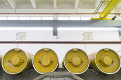 Chlorine storage Royalty Free Stock Photo