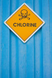 Chlorine warning sign Royalty Free Stock Image