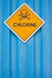 Chlorine warning sign Royalty Free Stock Image