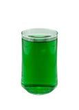 Chlorofyl in glas royalty-vrije stock foto's