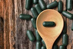 Chlorophyll pill Royalty Free Stock Photo