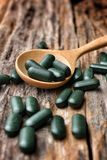 Chlorophyll pill Stock Images