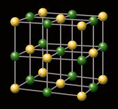 Chlorure de sodium - NaCl - sel illustration libre de droits