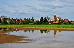 Chlumec的捷克共和国看法 库存照片