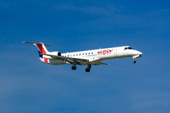 Chmiel! Embraer ERJ 145 obraz royalty free