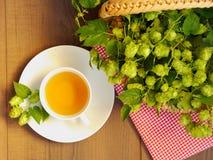 Chmiel herbata - odgórny widok zdjęcia royalty free