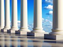 chmur antyczne kolumny royalty ilustracja
