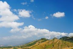 chmur fantastyczny pola krajobraz Obraz Royalty Free