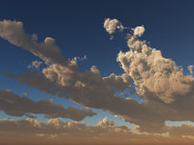chmur gwiazd zmierzch Zdjęcia Stock