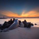 chmur kontrastów ciemnej dramatycznej półmroku połowu Florida nadzieja zasięrzutny mola promienia światło słoneczne usa Zdjęcia Stock