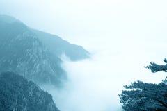 chmur mgły góra Fotografia Royalty Free