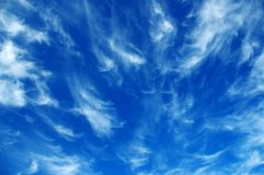 Chmur pierzastych chmury Zdjęcia Royalty Free