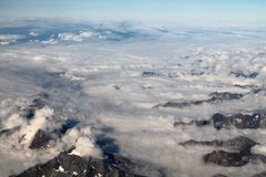 Chmur pierzastych chmury wysokie w niebieskim niebie obrazy royalty free