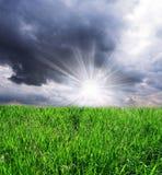 chmur pola burza Obraz Stock