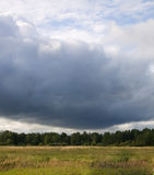 chmur pola burza Obraz Royalty Free