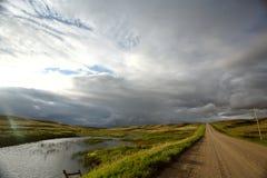 chmur Saskatchewan burza Zdjęcia Stock