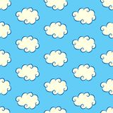 Chmura Bezszwowy wzór Obraz Royalty Free