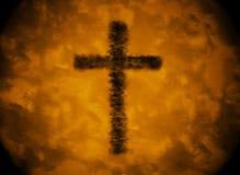 Chmura cieni krzyż Obrazy Stock