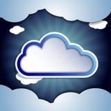 Chmura dla twój teksta Fotografia Royalty Free