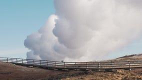 Chmura gejzeru dym zdjęcie wideo