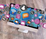 Chmura iść out komputer technologii icone Obraz Stock