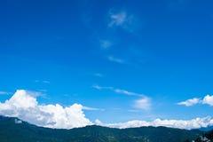 Chmura i góra Fotografia Royalty Free