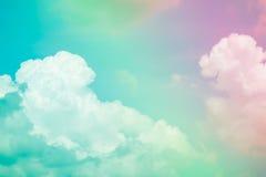 Chmura i niebo z pastelowym kolorem Fotografia Stock