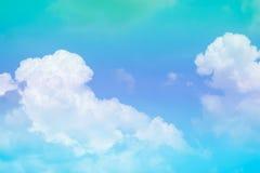 Chmura i niebo z pastelowym kolorem Obraz Royalty Free