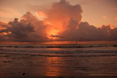 Chmura i plaże Fotografia Stock