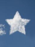 chmura kształtująca gwiazda Fotografia Royalty Free