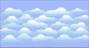 Chmura na błękitnym tle zdjęcia royalty free