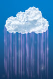 Chmura na niebie, Obłoczny oblicza pojęcie Obrazy Royalty Free