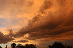 chmura piękny zmierzch Fotografia Stock