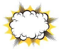 Chmura po wybuchu ilustracja wektor